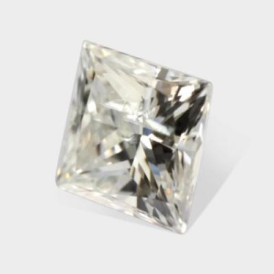 0.38 ctw, 4.05 x 3.93 mm, White G Color, SI3 Clarity, Princess Cut Loose Diamond